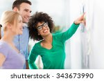 business people at a... | Shutterstock . vector #343673990