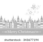 christmas card  cute little... | Shutterstock .eps vector #343677194