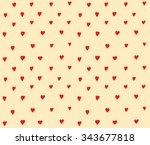 Hearts Dots Seamless Pattern...