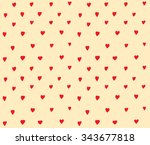 hearts dots seamless pattern... | Shutterstock .eps vector #343677818