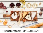 red and white wine plus... | Shutterstock . vector #343681364