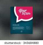 vector flyer design template... | Shutterstock .eps vector #343684880