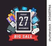 consumer electronics store sale ... | Shutterstock .eps vector #343685966