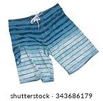 men's print swim trunks   Shutterstock . vector #343686179