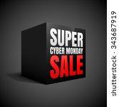 super cyber monday sale black... | Shutterstock .eps vector #343687919