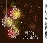 merry christmas | Shutterstock .eps vector #343694750