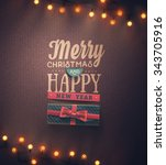 merry christmas and happy new... | Shutterstock .eps vector #343705916
