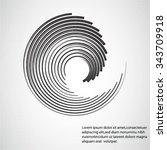 round shape. logo design...   Shutterstock .eps vector #343709918