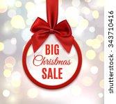 big christmas sale  round... | Shutterstock .eps vector #343710416
