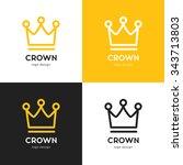 crown vector logo template ... | Shutterstock .eps vector #343713803