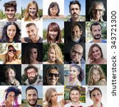 composition of diverse people... | Shutterstock . vector #343721300