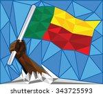 strong hand raising the...   Shutterstock .eps vector #343725593