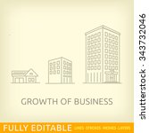 growth of business. buildings... | Shutterstock .eps vector #343732046