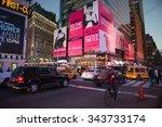 new york  usa   oct 8  2015 ... | Shutterstock . vector #343733174