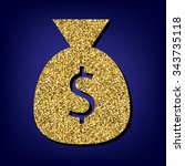 money bag illustration. golden...