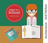 back to school design  vector... | Shutterstock .eps vector #343740563