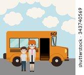 back to school design  vector... | Shutterstock .eps vector #343740569