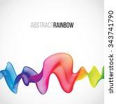 abstract rainbow lines design.... | Shutterstock .eps vector #343741790