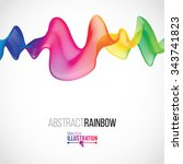 abstract rainbow lines design.... | Shutterstock .eps vector #343741823
