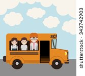 back to school design  vector... | Shutterstock .eps vector #343742903