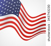 closeup of american flag on... | Shutterstock . vector #343743230