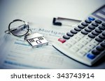 mortgage loan agreement... | Shutterstock . vector #343743914