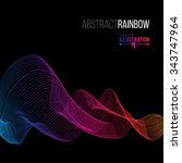 abstract rainbow lines design.... | Shutterstock .eps vector #343747964