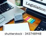 legislation   office folder on... | Shutterstock . vector #343748948