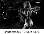 a strong fit woman exercising... | Shutterstock . vector #343757378
