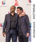 Small photo of LAS VEGAS , NOV 19 : Actor Will Smith and Willard Christopher Smith III pose in the press room during the 16th Annual Latin GRAMMY Awards on November 19 2015 in Las Vegas, Nevada