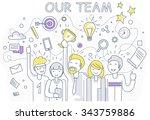 our success team linear design. ... | Shutterstock .eps vector #343759886