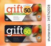 discount voucher template with... | Shutterstock .eps vector #343762028