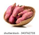 Sweet Potato On The White...