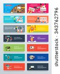 set concept pay per click ... | Shutterstock .eps vector #343762796