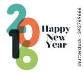happy new year graphic design ... | Shutterstock .eps vector #343769666