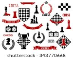 Chess Game Items And Heraldic...