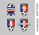 football or soccer france euro... | Shutterstock .eps vector #343772459