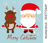 merry christmas colorful card... | Shutterstock .eps vector #343772669