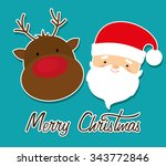 merry christmas colorful card... | Shutterstock .eps vector #343772846