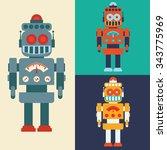 robot concept and technology... | Shutterstock .eps vector #343775969