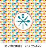 illustration of an abstract... | Shutterstock .eps vector #343791620