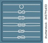 rope knots collection.... | Shutterstock . vector #343791653