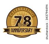 anniversary vector template | Shutterstock .eps vector #343794494