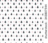 hipster seamless pattern with... | Shutterstock .eps vector #343807544