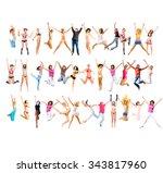 team victory over white  | Shutterstock . vector #343817960
