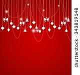 christmas background with... | Shutterstock .eps vector #343819148