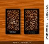 interior designer card template | Shutterstock .eps vector #343829528