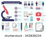 medical infographic of... | Shutterstock .eps vector #343838234
