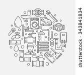 repair plumbing illustration  ...   Shutterstock .eps vector #343841834