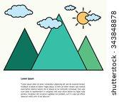 mountain background | Shutterstock .eps vector #343848878